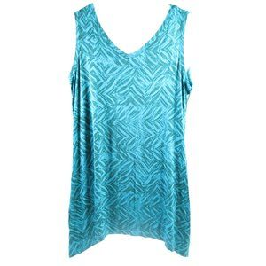 Logo Lori Goldstein S Printed Knit Tunic Tank Top